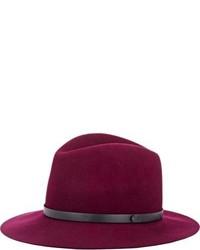 Chapeau en laine pourpre