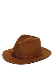 Chapeau en laine tabac
