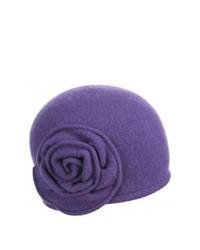 Chapeau en laine violet