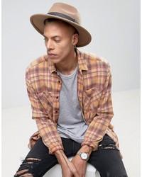 Chapeau géométrique marron Asos