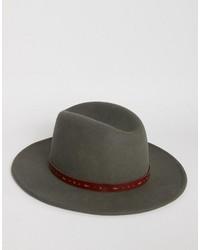 Chapeau gris foncé Asos