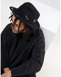 Chapeau imprimé noir Asos