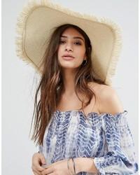 Chapeau marron clair Glamorous
