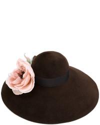 Chapeau marron foncé Gucci