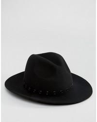 Chapeau noir Asos