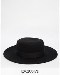 Chapeau noir Reclaimed Vintage