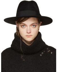 Chapeau noir Saint Laurent