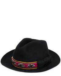 Chapeau orné noir Etro
