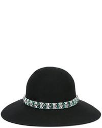 Chapeau orné noir Lanvin