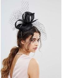 Chapeau orné noir Vixen
