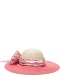 Chapeau orné rose