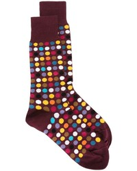 Chaussettes á pois bordeaux Paul Smith