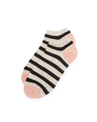 Chaussettes à rayures horizontales beiges Madewell