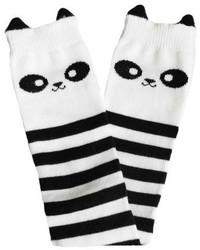Chaussettes à rayures horizontales blanches et noires
