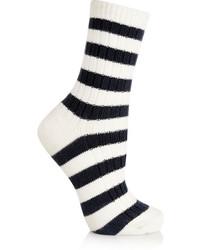 Chaussettes à rayures horizontales blanches et noires Sonia Rykiel