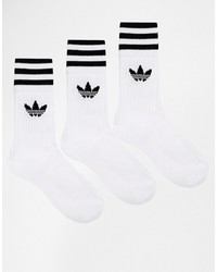 Chaussettes à rayures horizontales blanches adidas