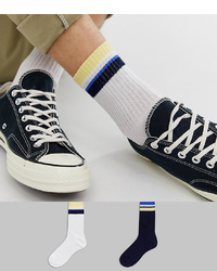 Chaussettes à rayures horizontales blanches ASOS DESIGN