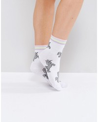 Chaussettes à rayures horizontales blanches Asos