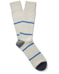Chaussettes à rayures horizontales blanches Paul Smith