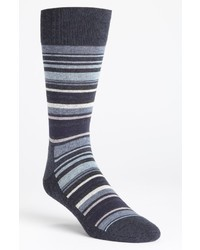Chaussettes à rayures horizontales bleu marine