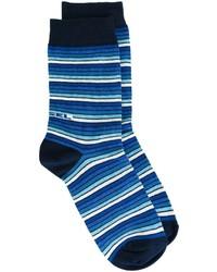 Chaussettes à rayures horizontales bleu marine Diesel