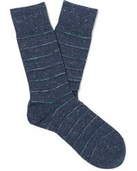 Chaussettes à rayures horizontales bleu marine Falke