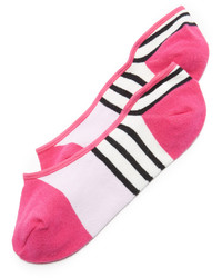Chaussettes à rayures horizontales fuchsia Kate Spade