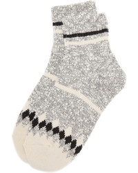 Chaussettes à rayures horizontales grises Madewell