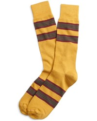 Chaussettes à rayures horizontales jaunes