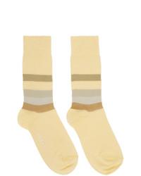 Chaussettes à rayures horizontales jaunes Marni