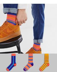Chaussettes à rayures horizontales multicolores ASOS DESIGN