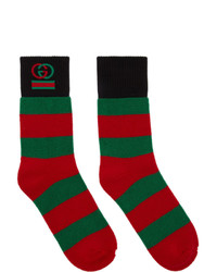 Chaussettes à rayures horizontales multicolores Gucci