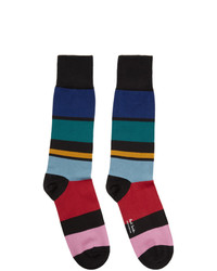 Chaussettes à rayures horizontales multicolores Paul Smith
