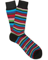 Chaussettes à rayures horizontales multicolores Paul Smith