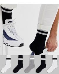 Chaussettes à rayures horizontales noires ASOS DESIGN