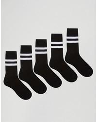 Chaussettes à rayures horizontales noires Asos