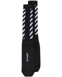 Chaussettes à rayures horizontales noires Off-White