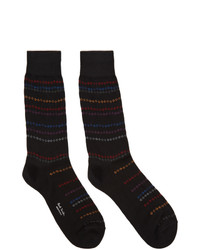 Chaussettes à rayures horizontales noires Paul Smith