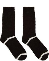 Chaussettes à rayures horizontales noires Undercover