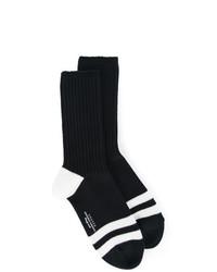 Chaussettes à rayures horizontales noires Unused