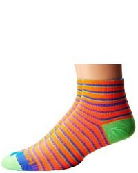 Chaussettes à rayures horizontales orange