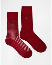 Chaussettes à rayures horizontales rouges Levi's