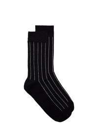 Chaussettes à rayures verticales noires