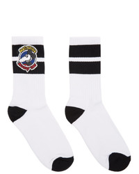 Chaussettes blanches et noires Moschino