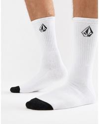 Chaussettes blanches et noires Volcom