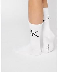 Chaussettes blanches Calvin Klein