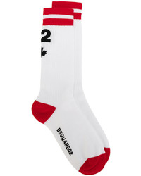 Chaussettes blanches DSQUARED2