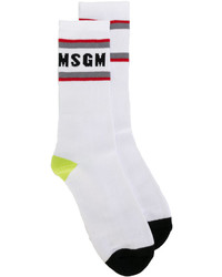 Chaussettes blanches MSGM