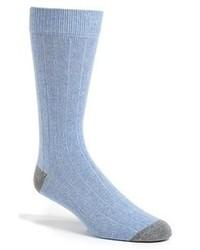 Chaussettes bleu clair
