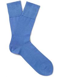 Chaussettes bleu clair Falke